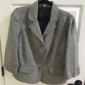 Old Navy Black and White Wool Blend Blazer SzXL
